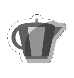 Coffee pot handle cut line vector
