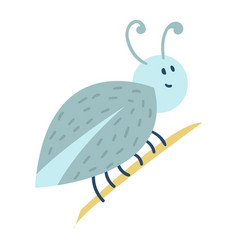 Colorful insect icon isolated wildlife wing detail vector