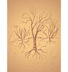 Dead Tree Sketch4 vector image