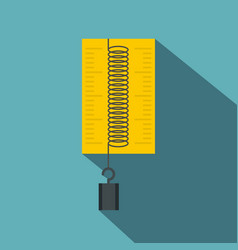 Dynamometer with weights icon flat style vector