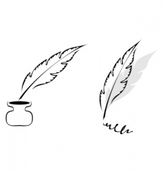 Feathers design vector