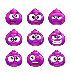 funny cartoon purple jelly monster vector image