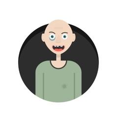 funny hobo in black circle vector image