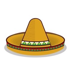 Hat mexican symbol graphic vector