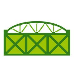 Home fence icon cartoon style vector