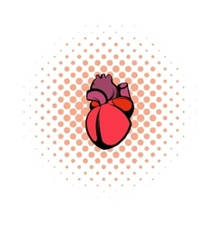 Human heart icon comics style vector image