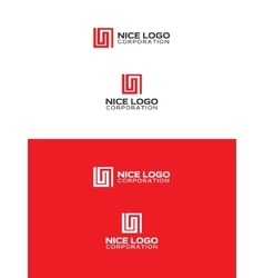 L letter logo vector image