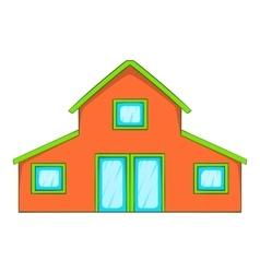 Little house icon cartoon style vector