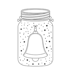 Mason jar with bell icon inside vector