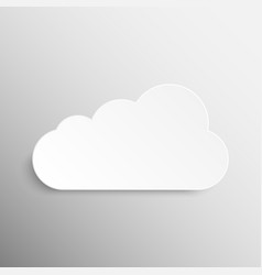 Paper banner mockup cloud weather vector