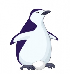 penguin with egg vector image