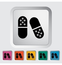 Pills icon vector image vector image