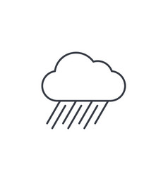 rain cloud storm weather thin line icon linear vector image vector image
