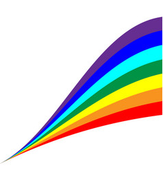 rainbow diagonal sign 804 vector image