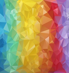 Rainbow striped polygonal triangular pattern vector