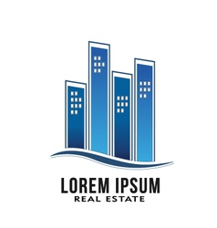 Real Estate Buildings Logo vector image vector image