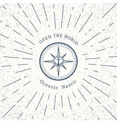 retro nautical logo template vector image vector image
