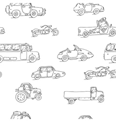 Seamless pattern Transport Sketch Set vector image vector image