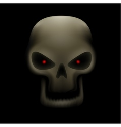 skull with no teeth vector image vector image