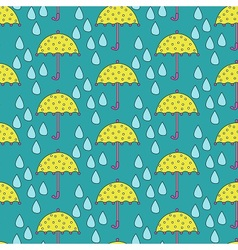 Umbrella vs Rain vector image