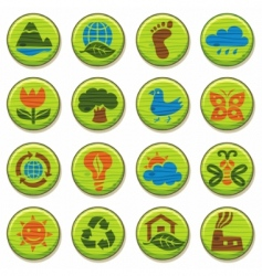 wooden environment icons vector image