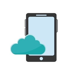 Cellphone and cloud icon vector