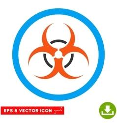 Bio hazard eps rounded icon vector