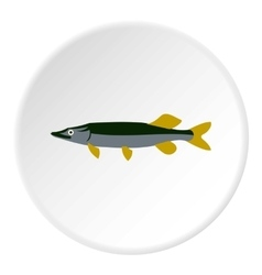 Pike icon flat style vector