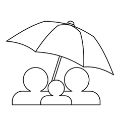 Family insurance concept icon outline style vector