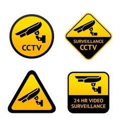 Video surveillance set symbols vector image