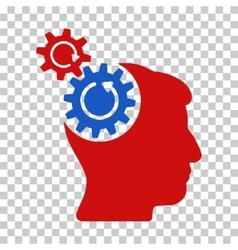 Head cogs rotation icon vector