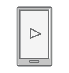 Mobile phone isolated on white video marketing vector