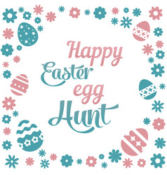 Colorful with the title happy easter vector