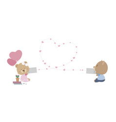 Love and valentines day concept vector