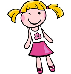 Doll clip art cartoon vector