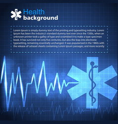 Healthcare and medicine blue background vector