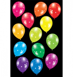 Balloons with stars vector