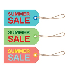 summer sign set vector image
