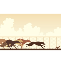 Greyhound dog race vector