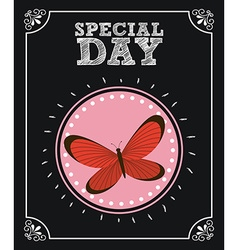 Butterfly card vector