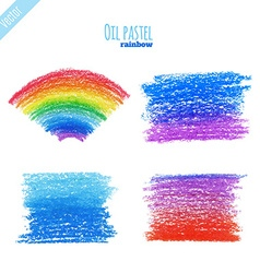 Oilpastelrainbow vector
