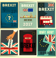 Brexit posters set vector
