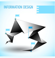 Business diagram template with text field vector