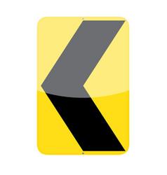 Chevron alignment sign vector