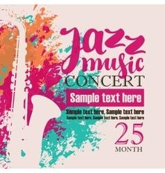 Concert of jazz music festival vector