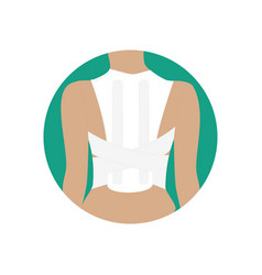 Corset for correction of posture vector