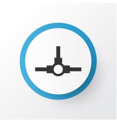 Distributed connection icon symbol premium vector