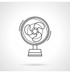 Fan flat line icon vector