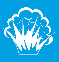 Flame and smoke icon white vector