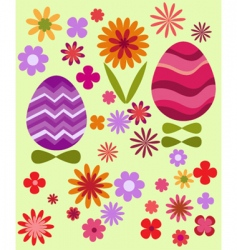 floral Easter design vector image